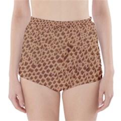 Giraffe Pattern Animal Print  High Waisted Bikini Bottoms