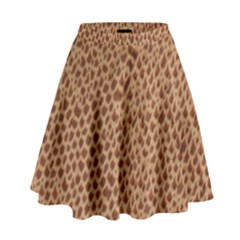 Giraffe pattern animal print  High Waist Skirt