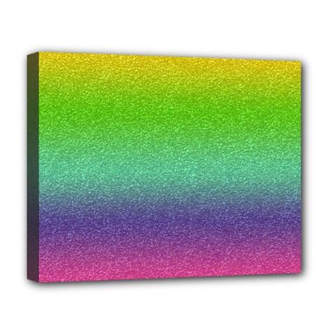 Metallic Rainbow Glitter Texture Deluxe Canvas 20  x 16
