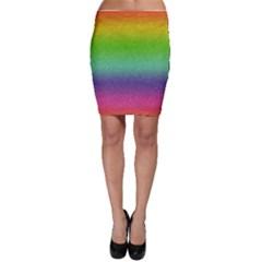 Metallic Rainbow Glitter Texture Bodycon Skirt