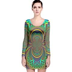 Hot Hot Summer B Long Sleeve Velvet Bodycon Dress