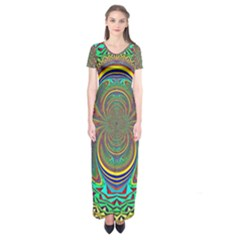 Hot Hot Summer B Short Sleeve Maxi Dress