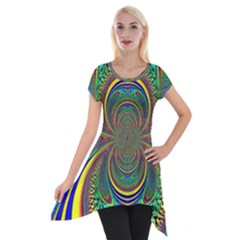 Hot Hot Summer B Short Sleeve Side Drop Tunic