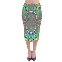 Hot Hot Summer B Velvet Midi Pencil Skirt