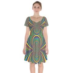 Hot Hot Summer B Short Sleeve Bardot Dress