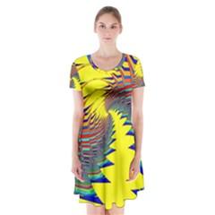 Hot Hot Summer C Short Sleeve V-neck Flare Dress