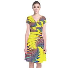 Hot Hot Summer C Short Sleeve Front Wrap Dress