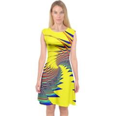 Hot Hot Summer C Capsleeve Midi Dress