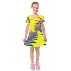 Hot Hot Summer C Kids  Short Sleeve Velvet Dress