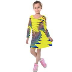 Hot Hot Summer C Kids  Long Sleeve Velvet Dress