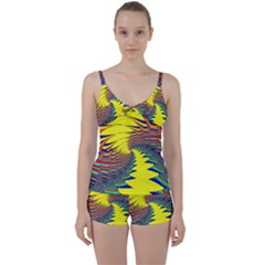 Hot Hot Summer C Tie Front Two Piece Tankini