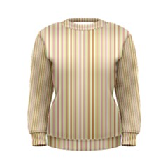 Stripes Pink And Green  Line Pattern Women s Sweatshirt