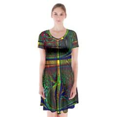 Hot Hot Summer D Short Sleeve V-neck Flare Dress