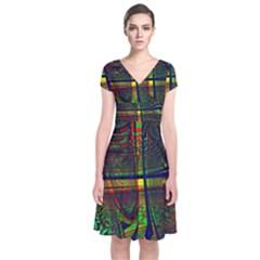 Hot Hot Summer D Short Sleeve Front Wrap Dress