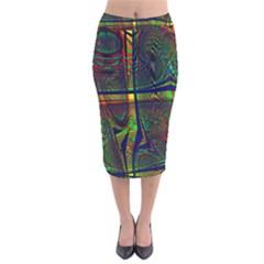 Hot Hot Summer D Velvet Midi Pencil Skirt