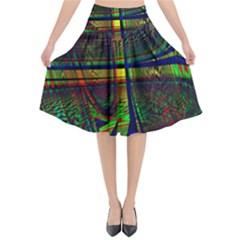 Hot Hot Summer D Flared Midi Skirt