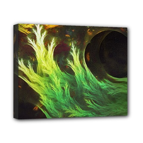 A Seaweed s DeepDream of Faded Fractal Fall Colors Canvas 10  x 8