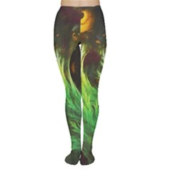A Seaweed s DeepDream of Faded Fractal Fall Colors Women s Tights