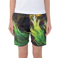 A Seaweed s DeepDream of Faded Fractal Fall Colors Women s Basketball Shorts