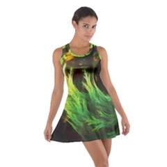 A Seaweed s Deepdream Of Faded Fractal Fall Colors Cotton Racerback Dress