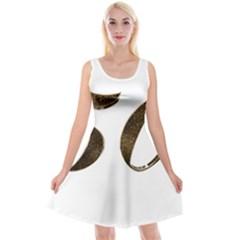 Number 50 Elegant Gold Glitter Look Typography 50th Anniversary Reversible Velvet Sleeveless Dress