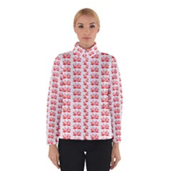Red Lotus Floral Pattern Winterwear