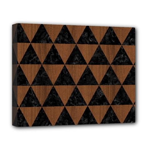 TRI3 BK-MRBL BR-WOOD Deluxe Canvas 20  x 16