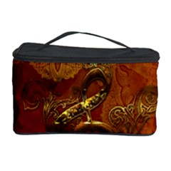 Golden Clef On Vintage Background Cosmetic Storage Case