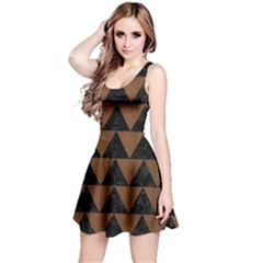 TRI2 BK-MRBL BR-WOOD Reversible Sleeveless Dress