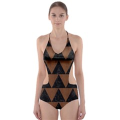 TRI2 BK-MRBL BR-WOOD Cut-Out One Piece Swimsuit