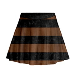 STR2 BK-MRBL BR-WOOD Mini Flare Skirt