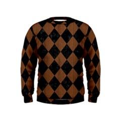 SQR2 BK-MRBL BR-WOOD Kids  Sweatshirt
