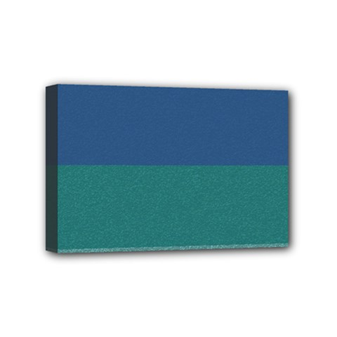 Blue Gradient Glitter Texture Pattern  Mini Canvas 6  x 4