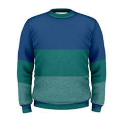 Blue Gradient Glitter Texture Pattern  Men s Sweatshirt