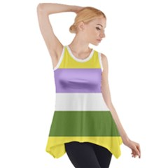 Deminonbinary Side Drop Tank Tunic