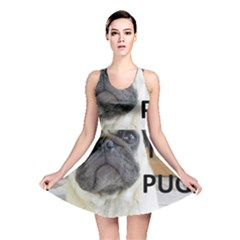 Pug Love W Picture Reversible Skater Dress
