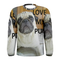 Pug Love W Picture Men s Long Sleeve Tee