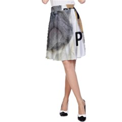 Pug Love W Picture A-Line Skirt