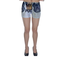 Pug Love W Picture Skinny Shorts
