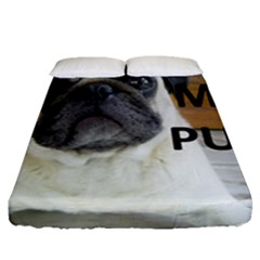 Pug Love W Picture Fitted Sheet (Queen Size)