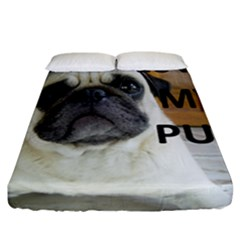 Pug Love W Picture Fitted Sheet (California King Size)