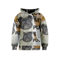 Pug Love W Picture Kids  Pullover Hoodie