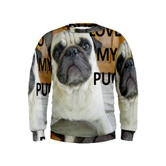 Pug Love W Picture Kids  Sweatshirt