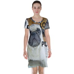 Pug Love W Picture Short Sleeve Nightdress