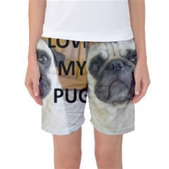 Pug Love W Picture Women s Basketball Shorts