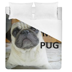 Pug Love W Picture Duvet Cover (Queen Size)