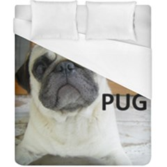 Pug Love W Picture Duvet Cover (California King Size)