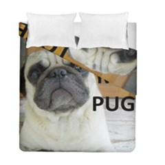 Pug Love W Picture Duvet Cover Double Side (Full/ Double Size)