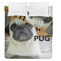 Pug Love W Picture Duvet Cover Double Side (Queen Size)