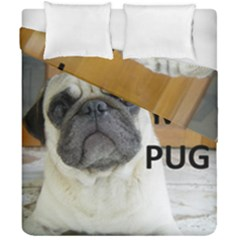 Pug Love W Picture Duvet Cover Double Side (California King Size)